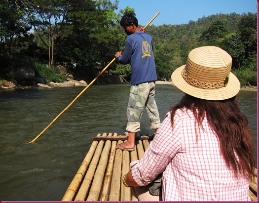 mae taeng elephant park bamboo raft ride