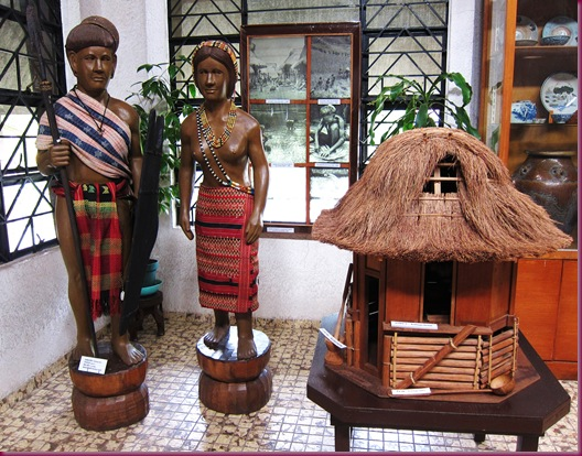 bontoc house and costume at bontoc museum