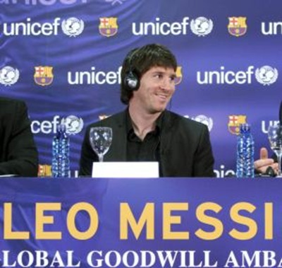 Lionel Messi embajador de Unicef