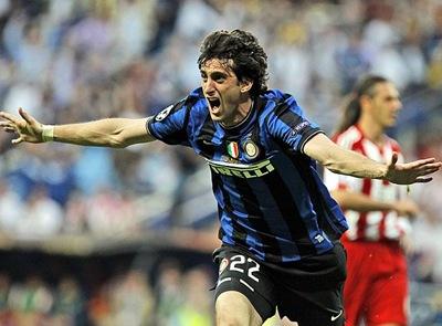 Milito autor de los dos tantos con que Inter derrotó al Bayern