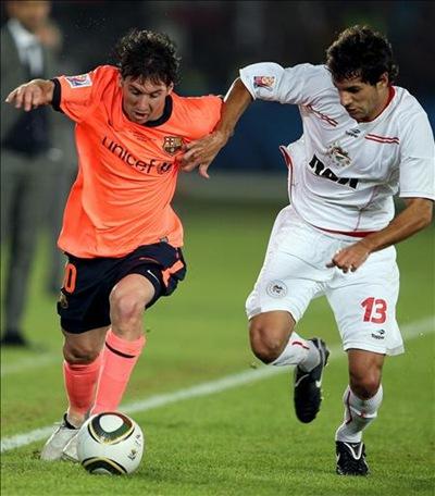 Messi , el mejor jugador del Mundial de Clubes 2009