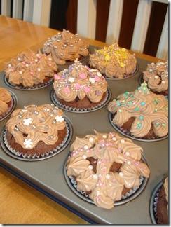 Deras finfina cupcakes!