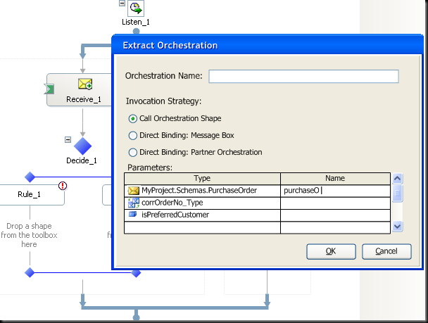 "Example screenshot of suggested ""Extract Orchestration"" tool"