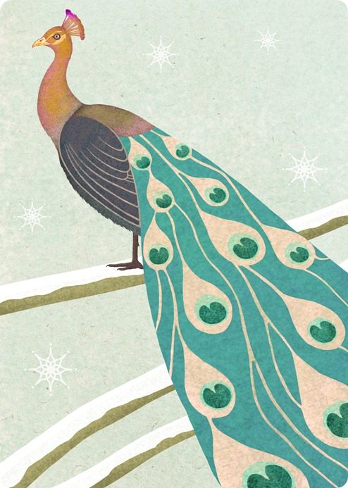a winter peacock by Maria Khersonets