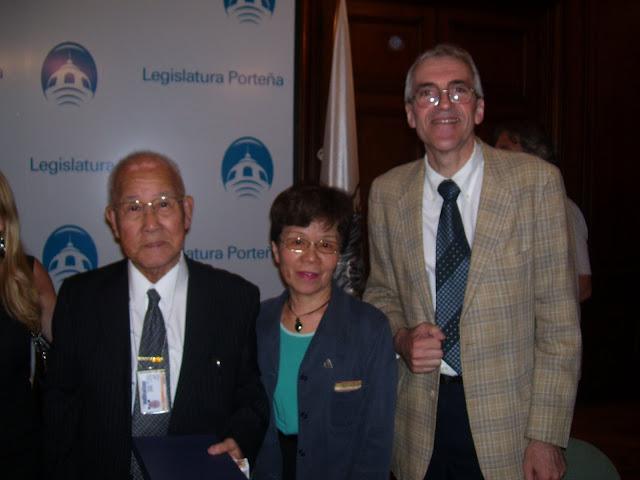 Morita Takachi y Junko Watanabe (Sobrevivientes), Rubén Aiassa (Miembro de la R.N.V.@)