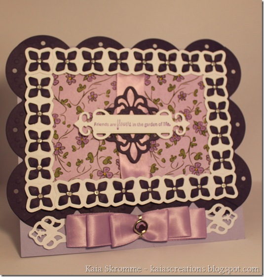 Card spellbinders flowers purple