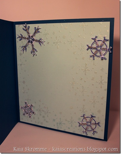 Kaia's Creations Spellbinders snowflakes heartfelt creations let it snow flurries