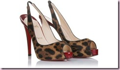 christain louboutin leopard sling back