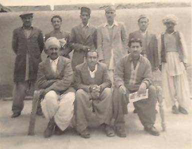 Gul Khan Nasir, Mir Lawang Khan, Mir Lal Bux Mengal and Akram Khan Mengal