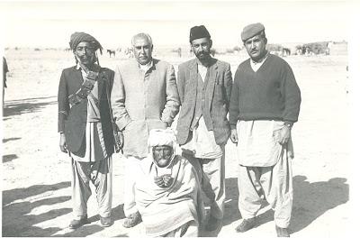 Mir Gul Khan Nasir, Ataullah Mengal and Ghaus Bakhsh Bizenjo