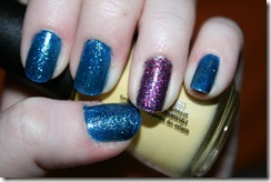 China Glaze - Dorothy Who and Sally Hansen - Rockstar Pink
