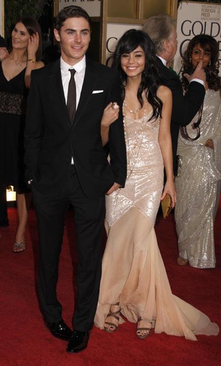 Zac Efron and Vanessa Hudgens<br />66th Annual Golden Globe awards 2008 - Red Carpet<br />Los Angeles, California - 11.01.09<br />Credit: (Mandatory): WENN.com