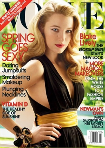 Blake Lively salio en la portada de la revista Vogue