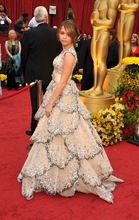 Singer Miley Cyrus arrives at the 81st Annual Academy Awards hel