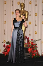 Actress Kate Winslet poses in the 81st Annual Academy Awards pre