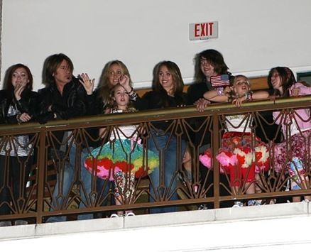 Miley Cyrus and Family Watching Her Little Sisters Concert In Citywalk