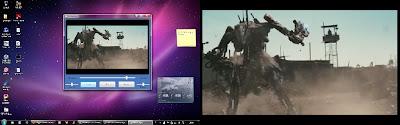 Teljes képernyő előtt és után