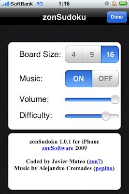 zonSudoku, zonSoftware, iPod, iPhone, App Store, アプリケーション, iTunes Store, 無料, free, gratis, sudoku, 数独, ナンプレ, ナンバープレース, Jere, zon7