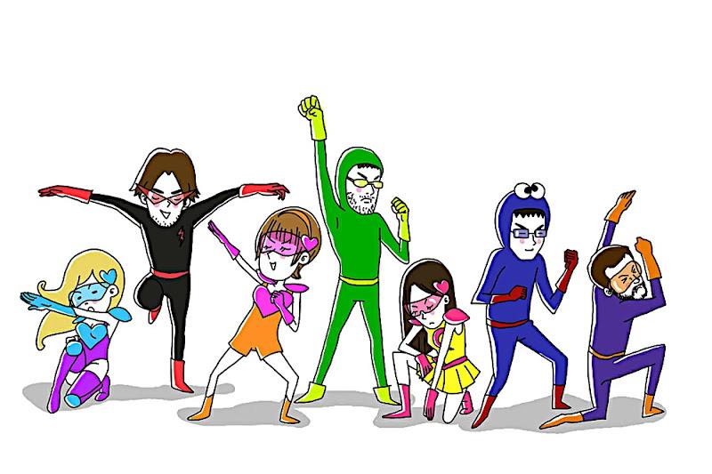 B'Kamen, Yamagata, Lo, UltraLo, karawapo, ale, pepino, Madame Beus, zon7, Jere, El Capitán, Urías, fanart, tokusatsu, 特撮, superhéroes, super heroes, スーパーヒーロー