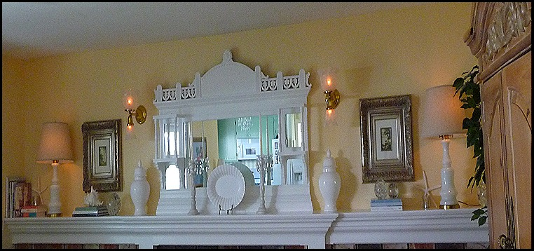 Summer mantle in white 018