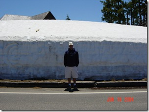Crater Lake Snowbank