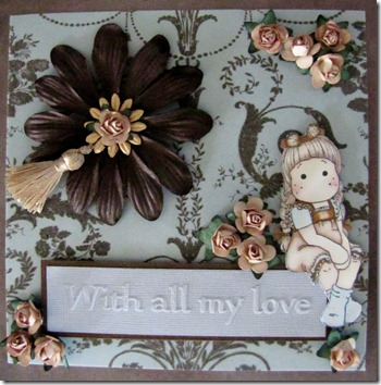 Brown and Cream Tilda With All My Love Front 1