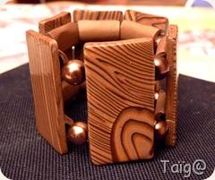 Bracelet imitation bois - Mars 2010