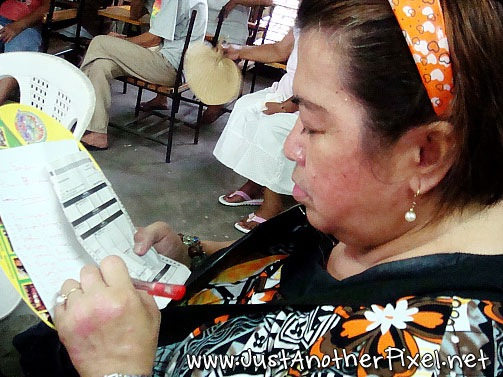 Nanay completing her list