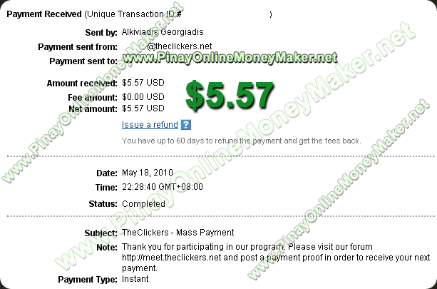 TheClickers Payment Proof 05.18.2010