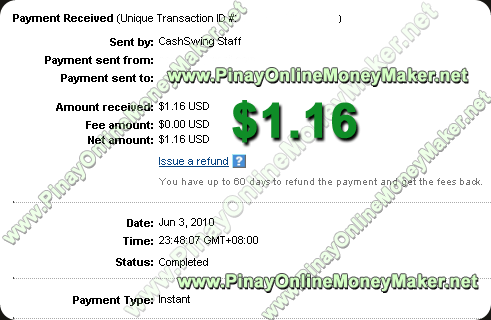 CashSwing Payment Proof 06.03.2010