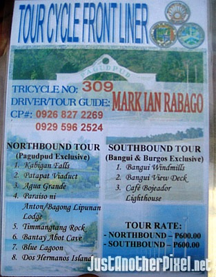 Tour Cycle Front Liner tour guide in Pagudpud - JustAnotherPixel.net