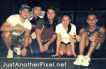 Badminton buddies - me, Ken, Osang and Louie, with Jhay salimpusa - JustAnotherPixel.net