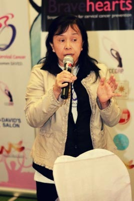 Dra. Cecila Llave, Director of CECAP encouraging women to visit their OB-GYNE regularly - JustAnotherPixel.net