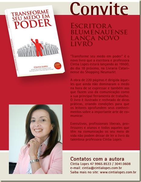 Cintia Lopes lança livro