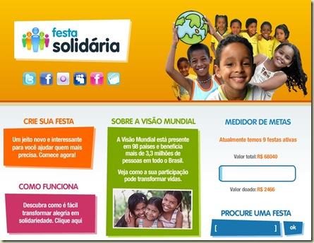 Logo Festa Solidária Página Principal do Site