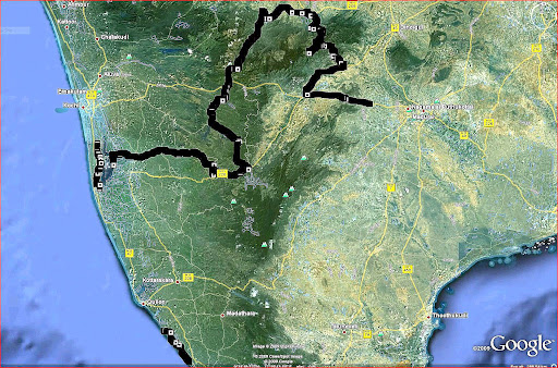 India Cycle ride route.JPG