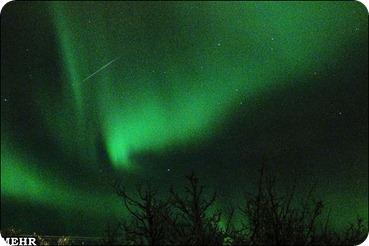 عبور شهاب در آسمان نروژ