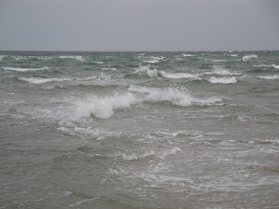 El choque de las olas de ambos mares