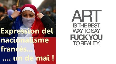 expression del nacionalisme francés and art