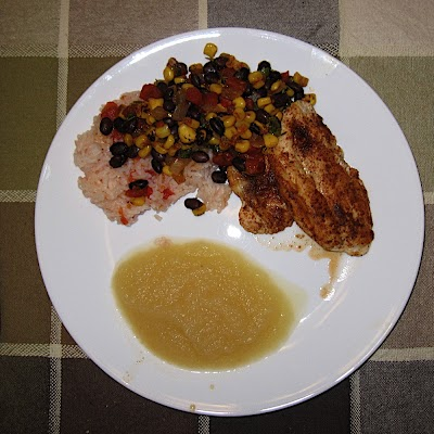 Grilled Spicy Turkey with Black Bean Salsa