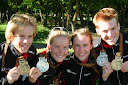 The Norwegian team with medals.. Photo: Henning Spjelkavik