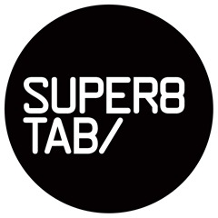 Super8 & Tab logo round black