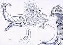 اسلیمی دهن اژدری دهان اژدری شکل سر اژدها اژدرها اژدر dragon leaf eslimi بحثی پیرامون نقوش اسلامی طراحی با خودکر اثر سید امین نبی پور