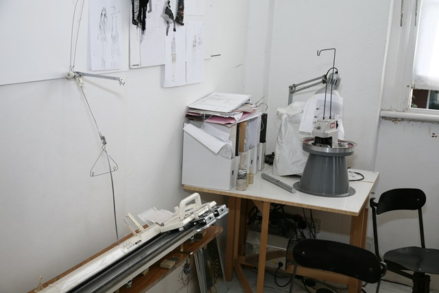 Knitting Machine in the corner of the Alice Lee studio