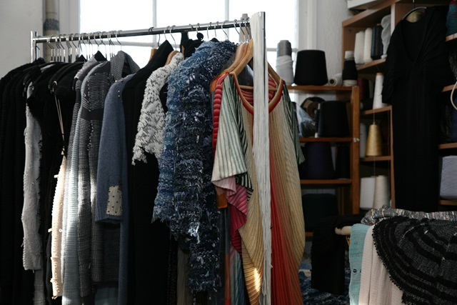 Clothes Rail full of designs from various collections