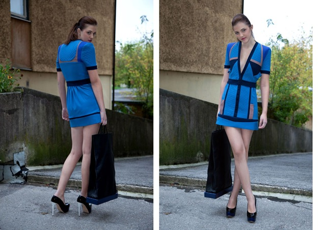 2 dresses from Nika Urbas debut ASOS Marketplace collection 'Maria Moderna'
