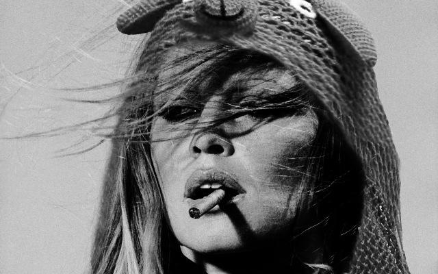 Brigitte Bardot wearing a 'We Love Fairground' Bunny hood!