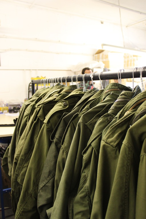 The Peace Corps stock is sourced from all over the world, with army uniforms represented from as far as China and Russia.