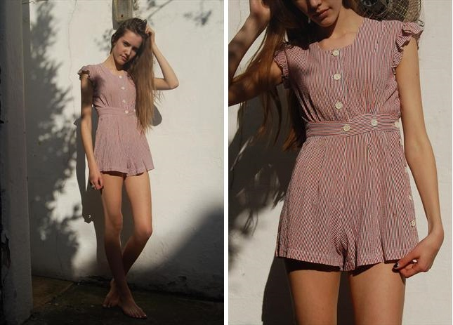 Striped romper fun from these Brighton outfitters. The only thing this outfit lacks for summer perfection is a Mr Whippy.