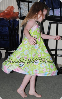 05202011 K green dress twirl